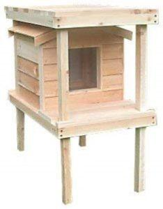 Cozy_Cat_Furniture_Large_Outdoor_Cat_House_With_Platform_and_Loft_Thermal-Ply_Insulation_Waterproof_Shelter_Cedar_Construction_Angle_View