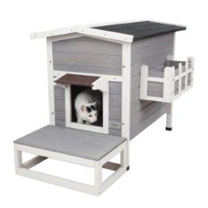 Petsfit_weatherproof_outdoor_cat_shelter with stair_1
